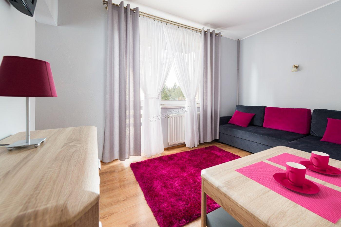 Apartament pokój wypoczynkowy z balkonem