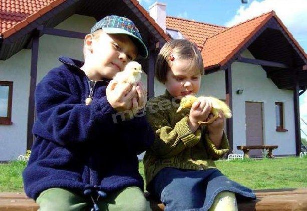 """Gospodarstwo Agroturystyczne """"Ania i Filip"""" - na zdjęciu wnuczęta właścicieli, którzy użyczyli imiona nazwie."""