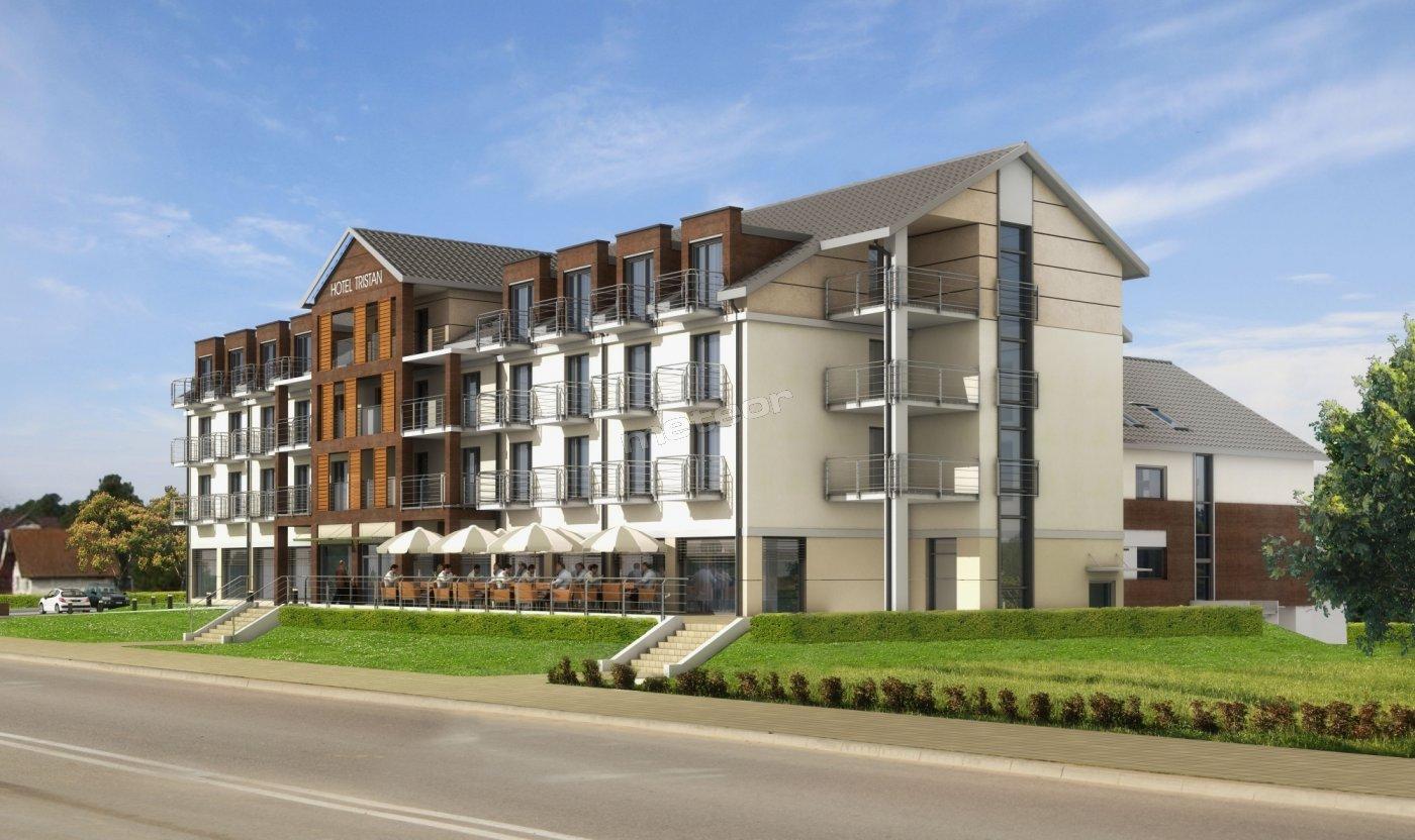 TRISTAN HOTEL & SPA **** - wizualizacja nowego hotelu od ul. Rybackiej