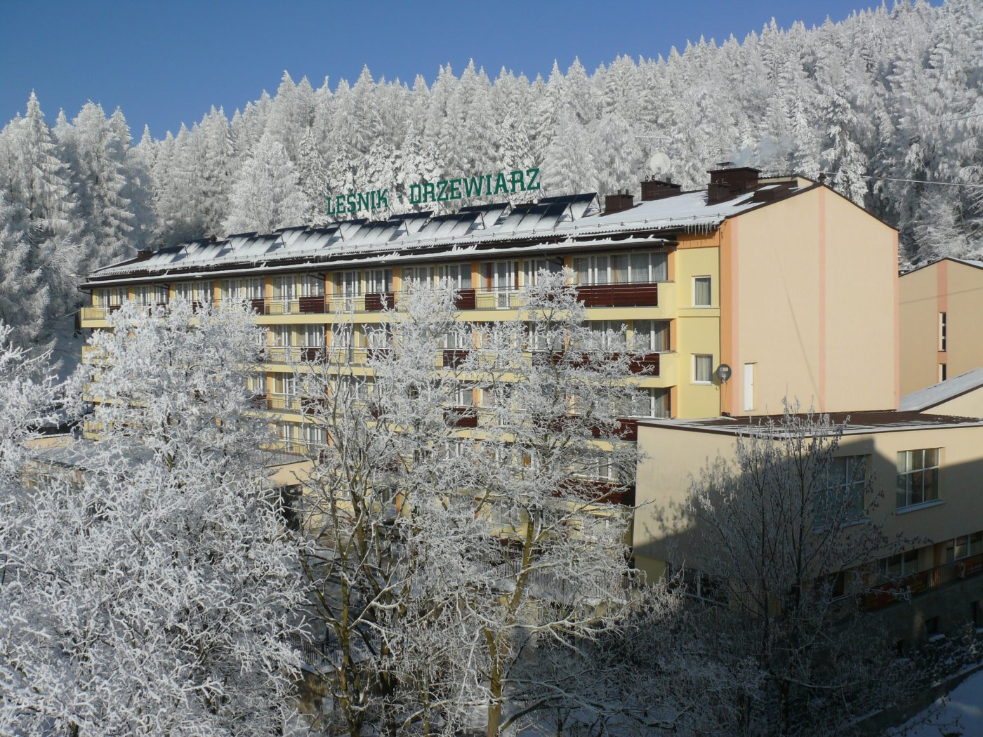"""Sanatorium Uzdrowiskowe """"Leśnik-Drzewiarz"""" Sp. z o.o. zimą"""