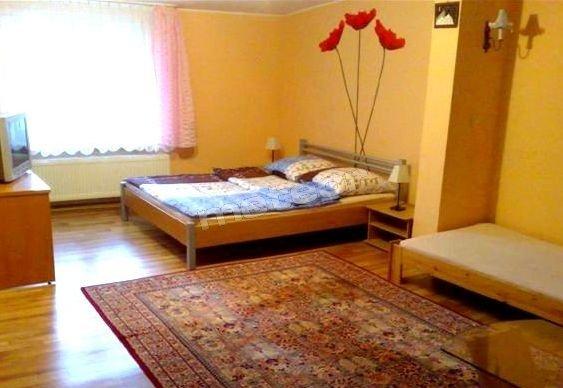 Duży pokój z łóżkiem małżeńskim