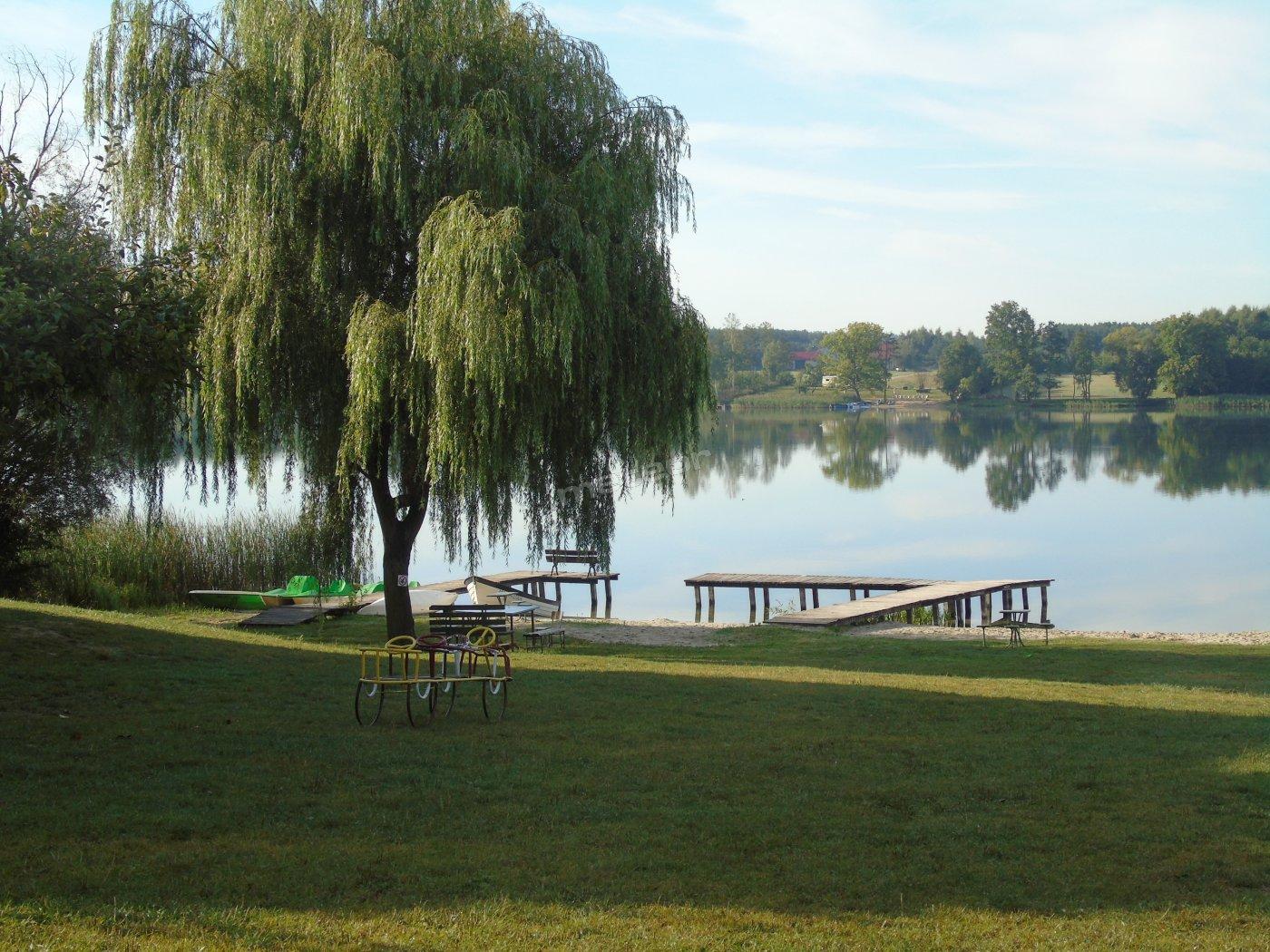 Widok na jezioro z altany