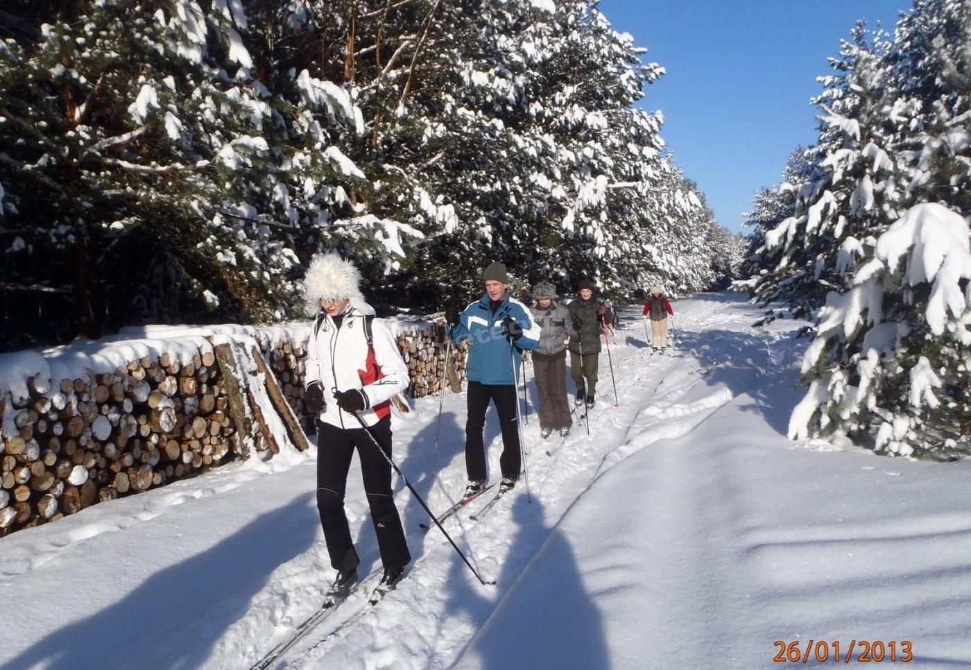 Wycieczki na nartach biegowych.