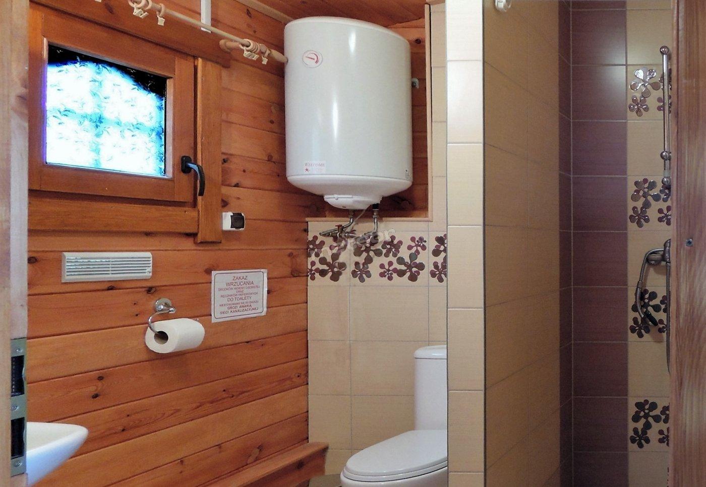 węzeł sanitarny, toaleta, prysznic. Rybakówka