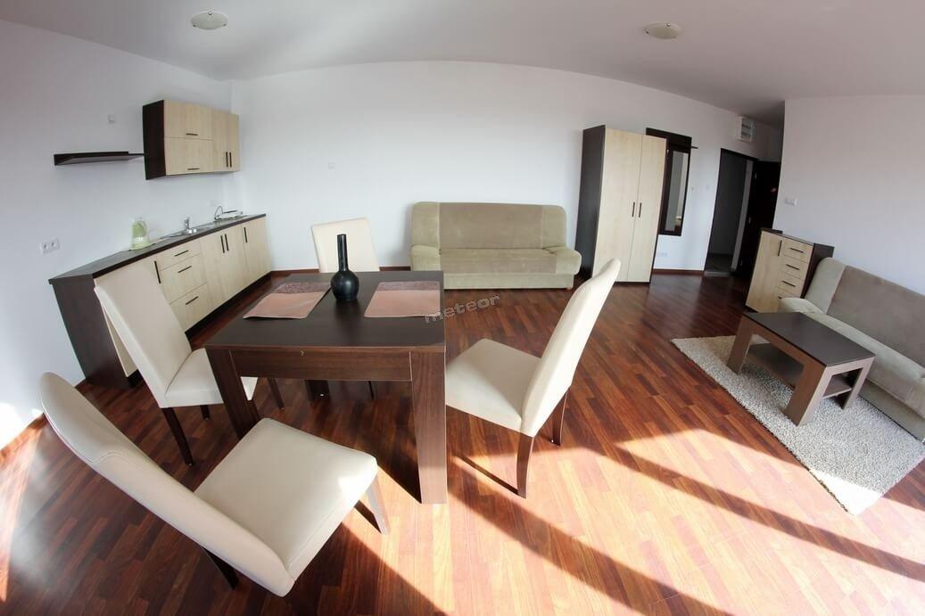 duży apartament z aneksem kuchennym - salon z sypialnią