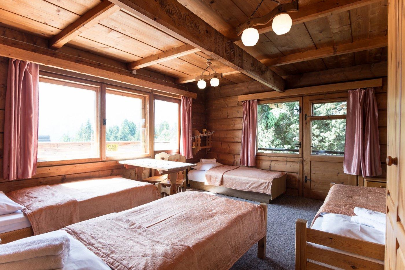 pokój 4-os z widokiem na gory