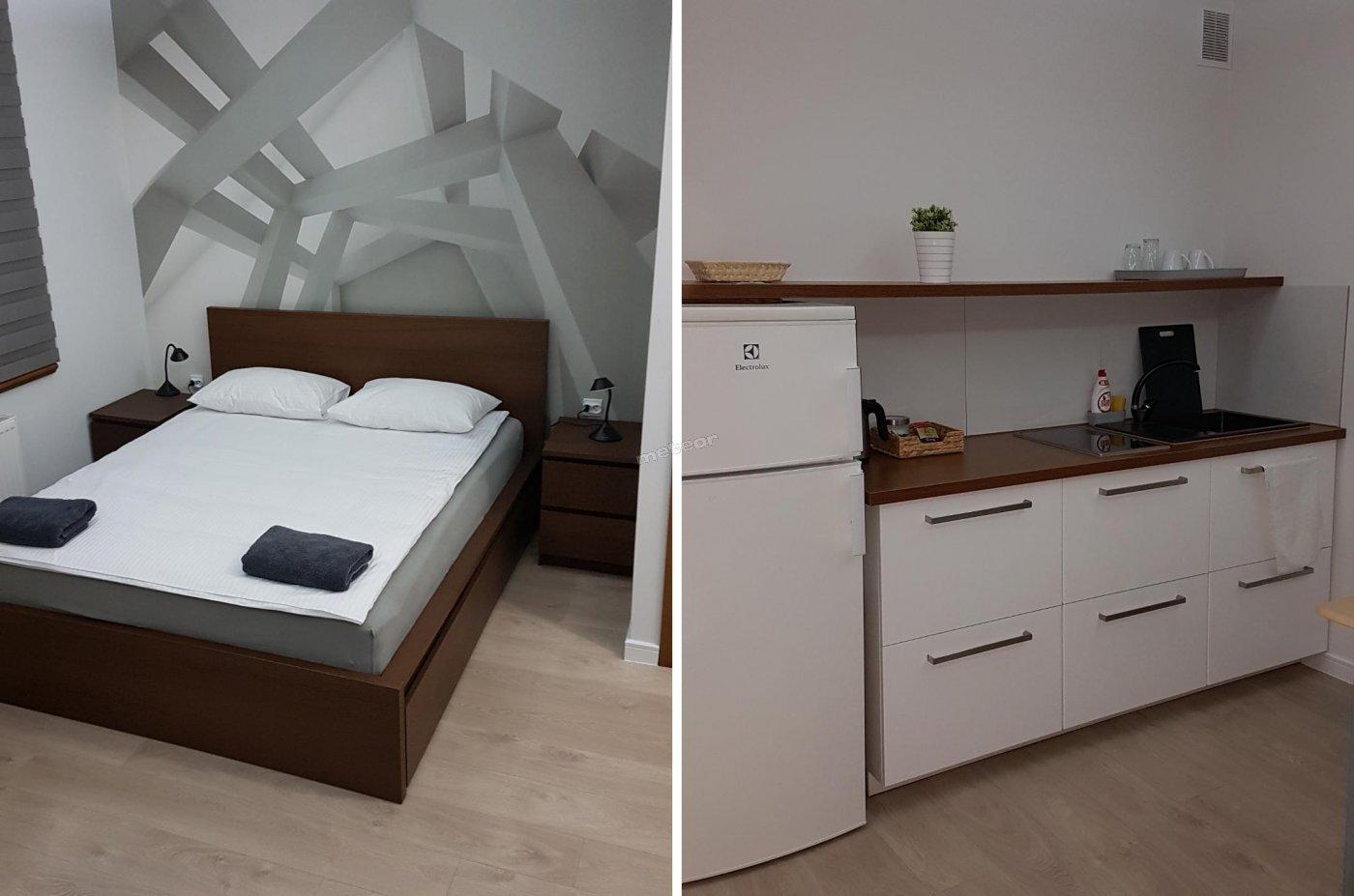 Apartament łoże małżeńskie plus wersalka