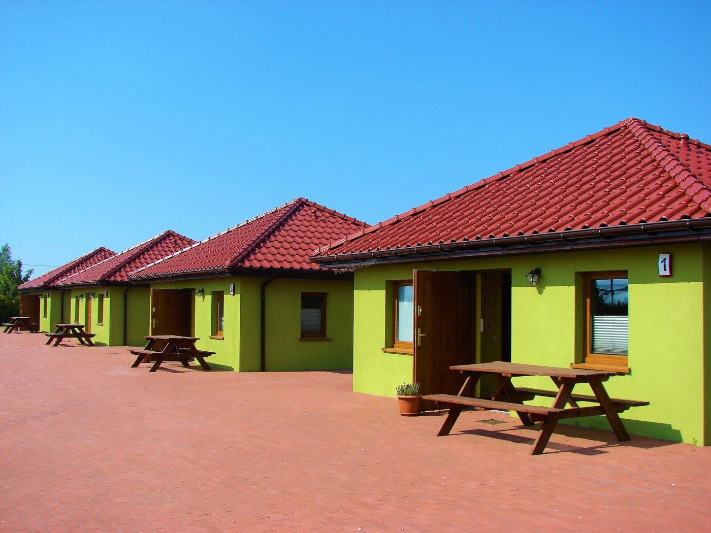 domki z zewnątrz