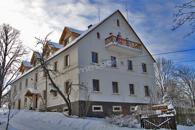 Villa Greta zimą.