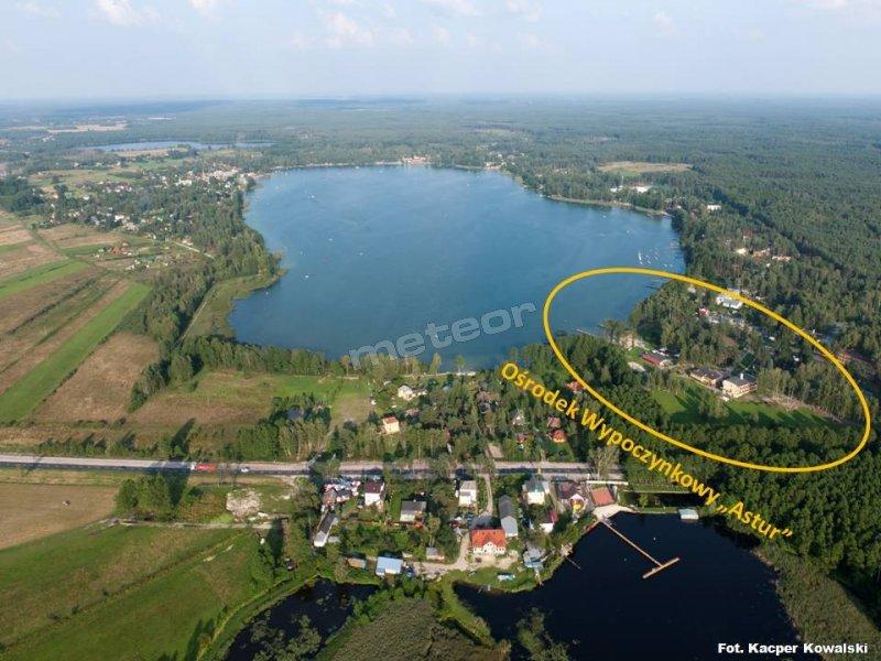 Jezioro Białe i Jezioro Czarne z lotu ptaka
